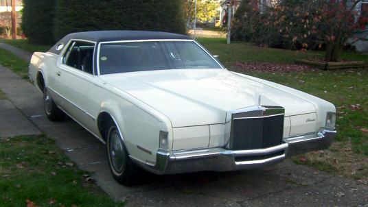 1972 Continental Mark IV w/bumper guard option