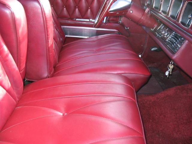 1968 Continental Mark III interior