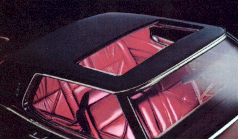 1971 Continental Mark III sun roof