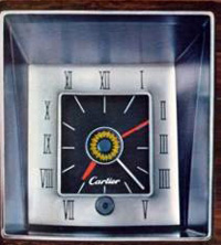 1973 Continental Mark IV Cartier clock - standard