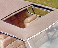 1973 Continental Mark IV power operated sunroof - optional