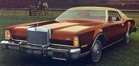 1974 Continental Mark IV in dark copper