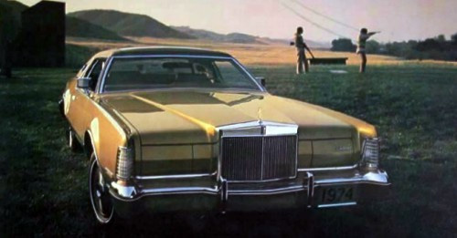 1974 Continental Mark IV Gold Luxury Group
