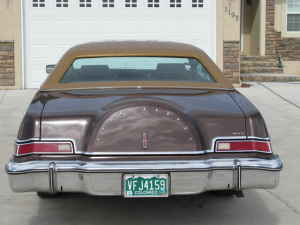 1975 Continental Mark IV - rear view