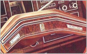 1975 Continental Mark IV - new steering wheel design - standard