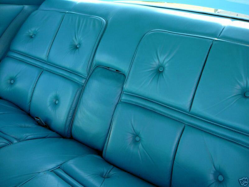 1976 Continental Mark IV Givenchy leather rear seats