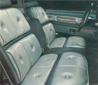 1976 Continental Mark IV - dark jade/light jade luxury group interior - optional