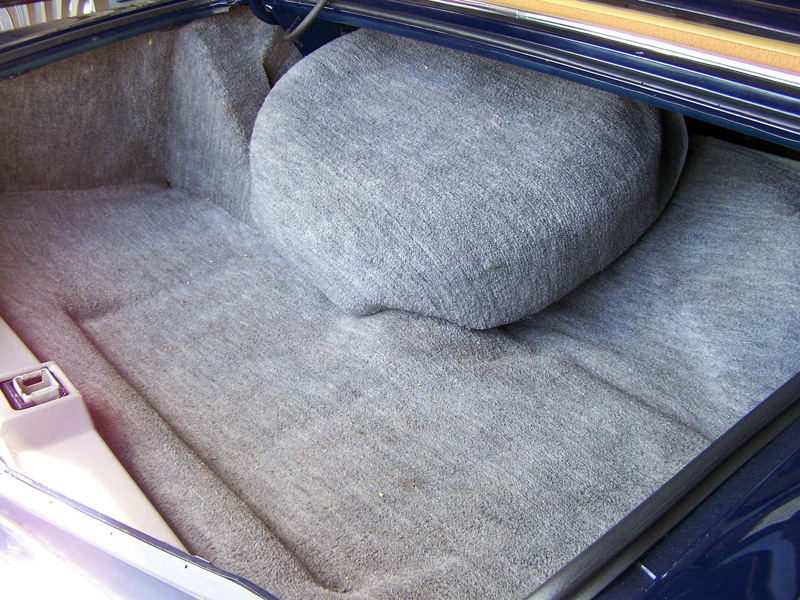 1977 Continental Mark V Bill Blass trunk carpeting