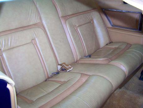 1977 Continental Mark V Bill Blass Leather rear seats