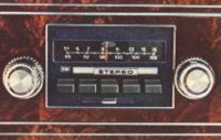 1977 Continental Mark V AM/FM Radio w/4 speakers - standard