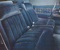1977 Continenal Mark V velour interior - standard