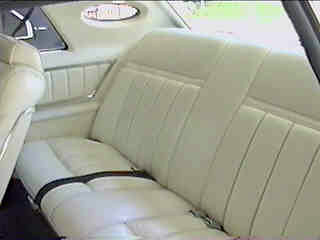 1977 Continental Mark V Pucci w/white leather interior - standard sew style