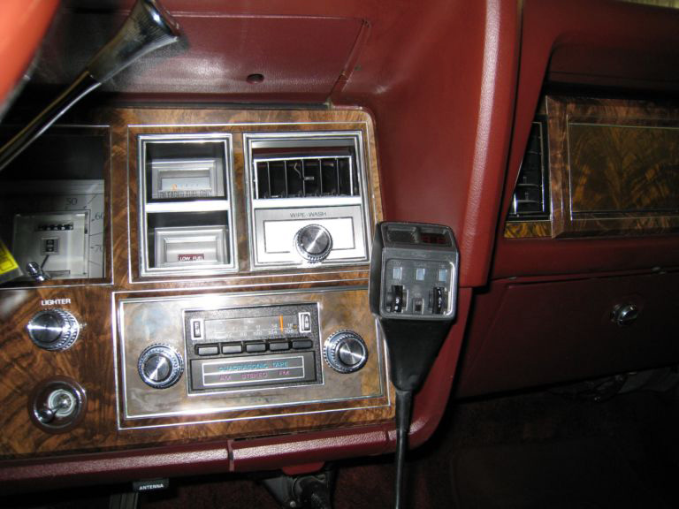 1978 Continental Mark V Bill Blass w/optional CB Radio and 8-track tape