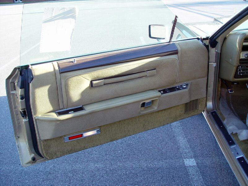 1978 Continental Mark V Diamond Jubilee Edition door panel in Jubilee Gold