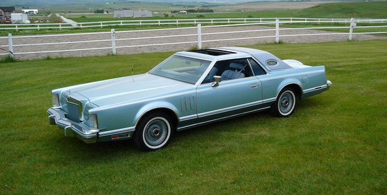1978 Continental Mark V Diamond Jubilee Edition in Diamond Blue