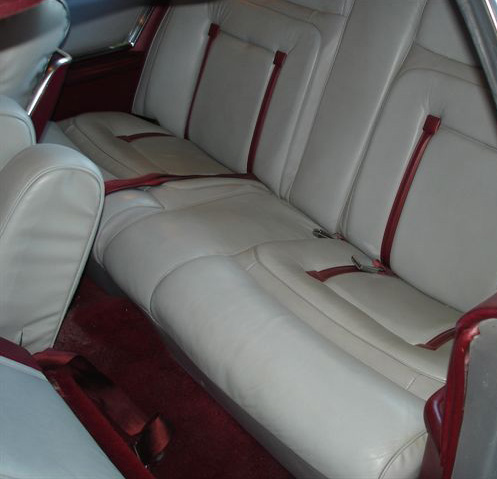 1978 Continental Mark V Pucci dove grey leather interior