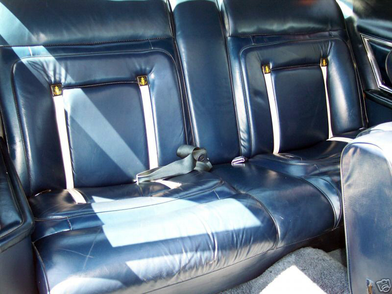 1979 Continental Mark V Bill Blass midnight blue leather interior