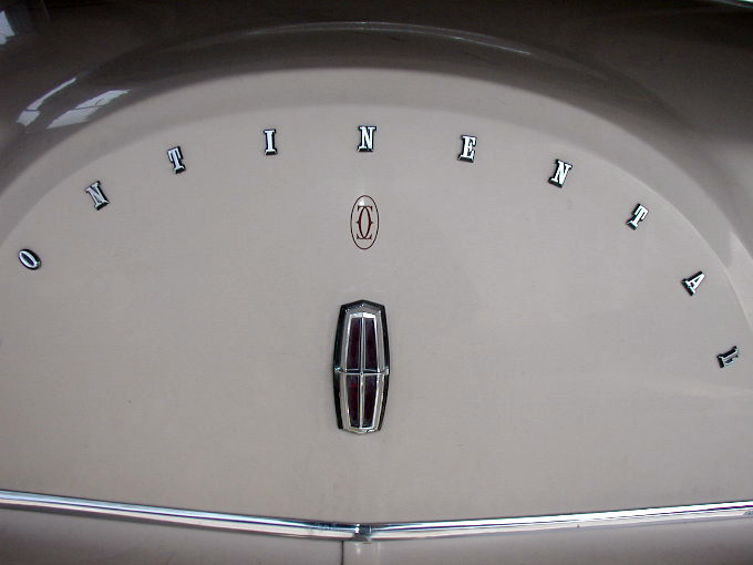 1979 Continental Mark V Cartier monogram on decklid