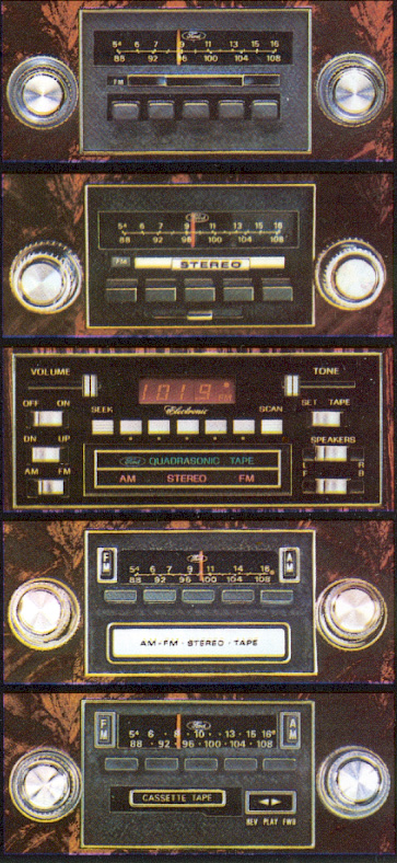 1979 Continental Mark V AM/FM Radio options