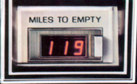 1979 Continental Mark V Miles to empty option