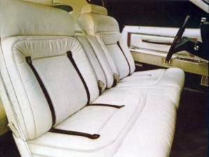 1979 Continental Mark V Pucci leather interior