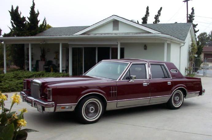 1980 Continental Mark VI Signature Series 4-door Sedan in Maroon