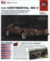 1977-79 Continental Mark V - IMP Brochure