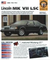 1984-92 Lincoln Mark VII LSC - IMP Brochure