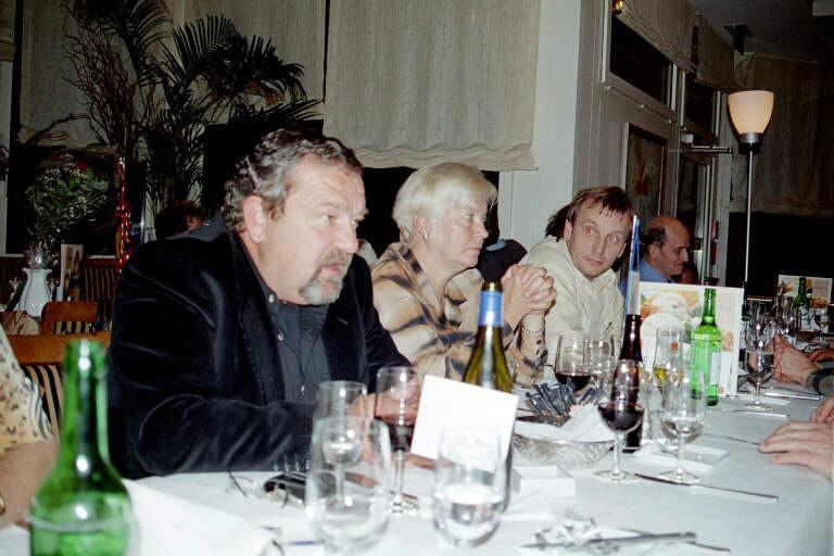 Hermann, Anita and Christian at a legendary LCCE-meet / Switzerland