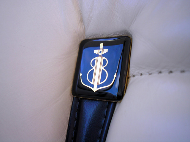 1979 Continental Mark V Bill Blass seat detail